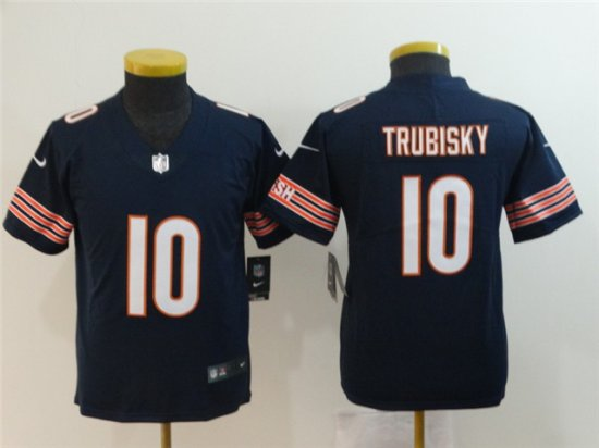 Youth Chicago Bears #10 Mitchell Trubisky Blue Vapor ...