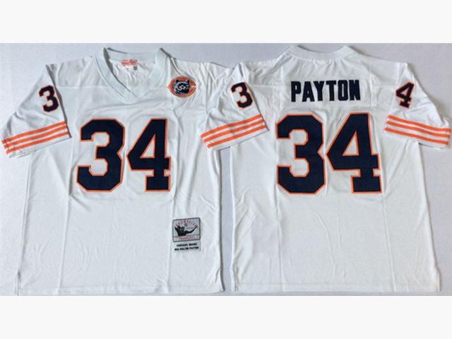 Chicago Bears #34 Walter Payton Throwback White Jersey ...